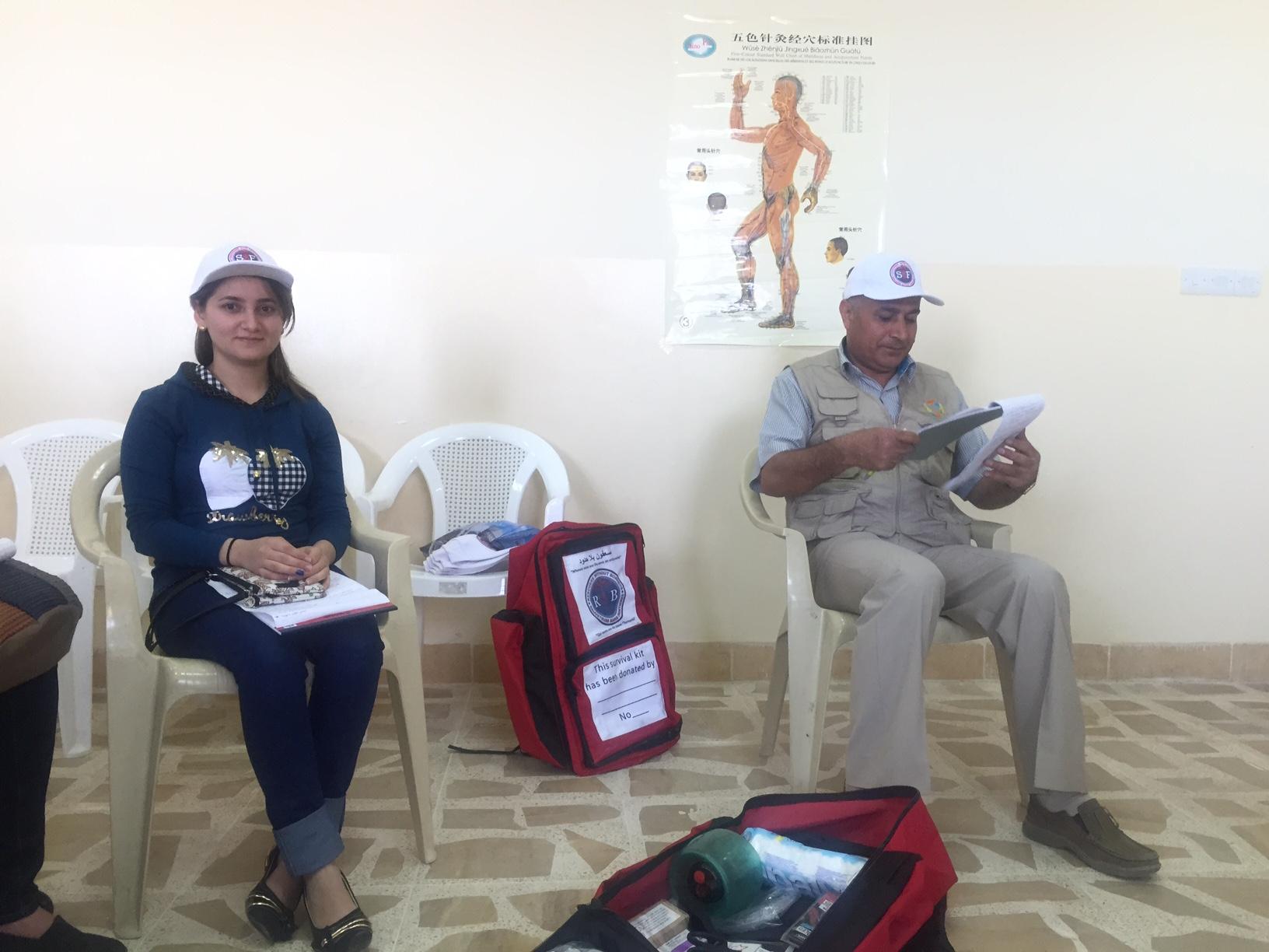deux secouristes équipés de kit SSF
