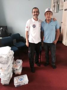 Arié Lévy, Président de SSF et Dr Binjay Tamang, directeur Antenne SSF, Népal, 17 Août 2015