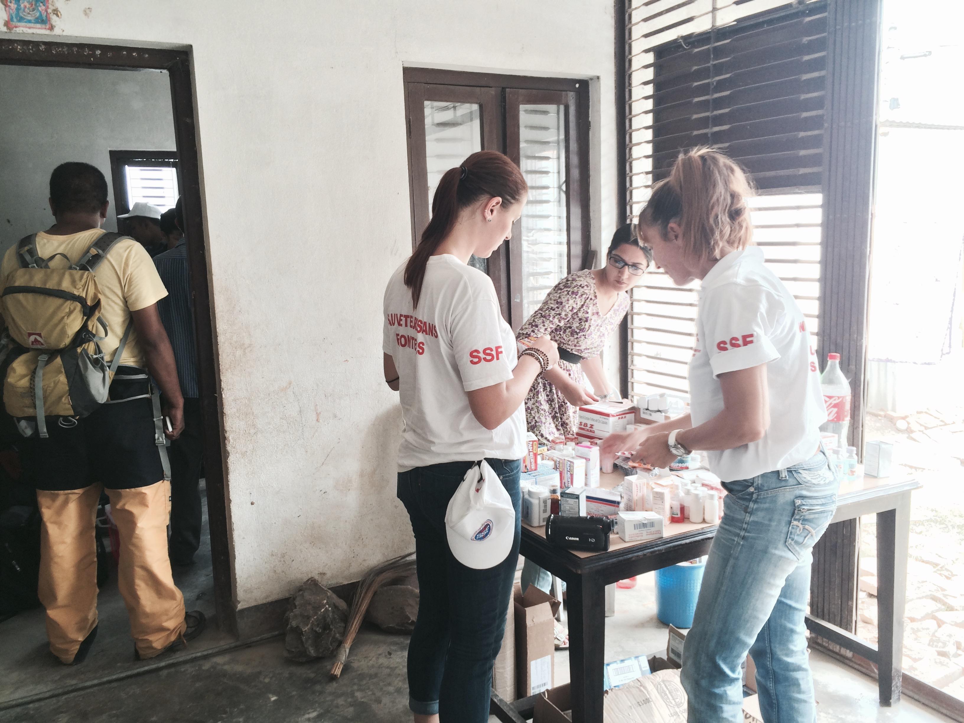 Health Camp à Kirtipur, Népal, Août 2015