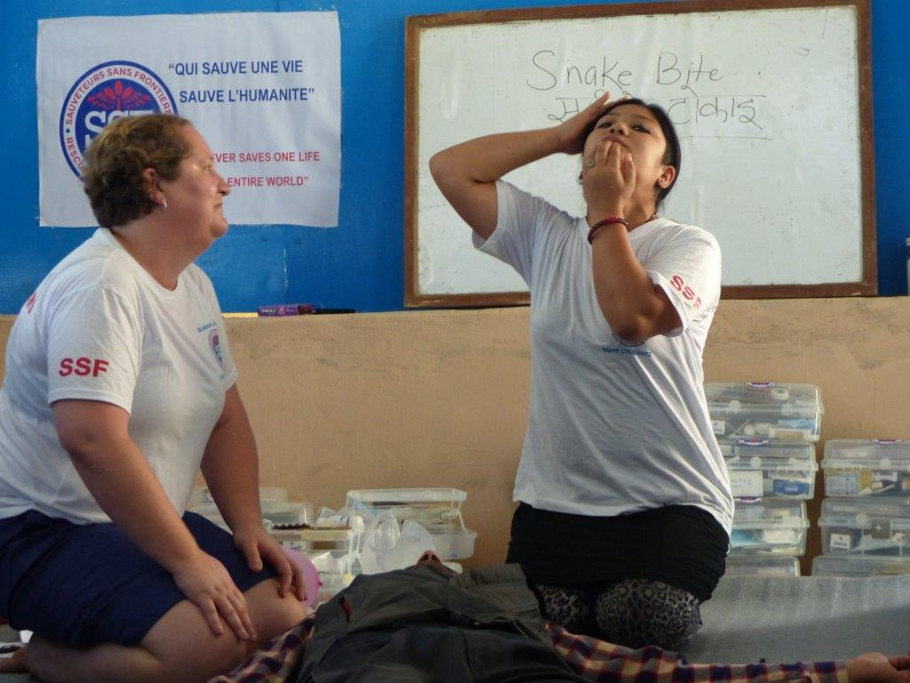 Les 2 formatrices, Sonia et Mamta,Thokarpa, Népal