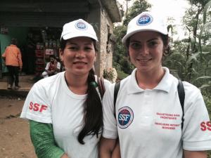 Lalita, Responsable Antenne SSF région de Tanchitar et Kylie, organisatrice du stage, Népal, Août 2015