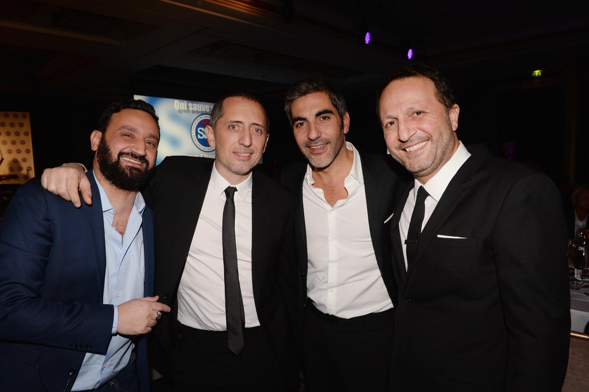 Cyril Hanouna, Gad Elmaleh, Ary Abittan et Arthur