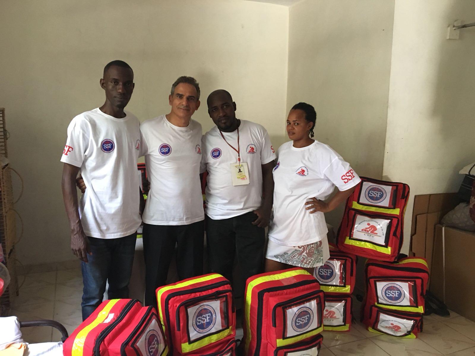 Staff CSPV et Fernand Cohen-Tannoudji, Port au Prince, le 08 Juillet 2018