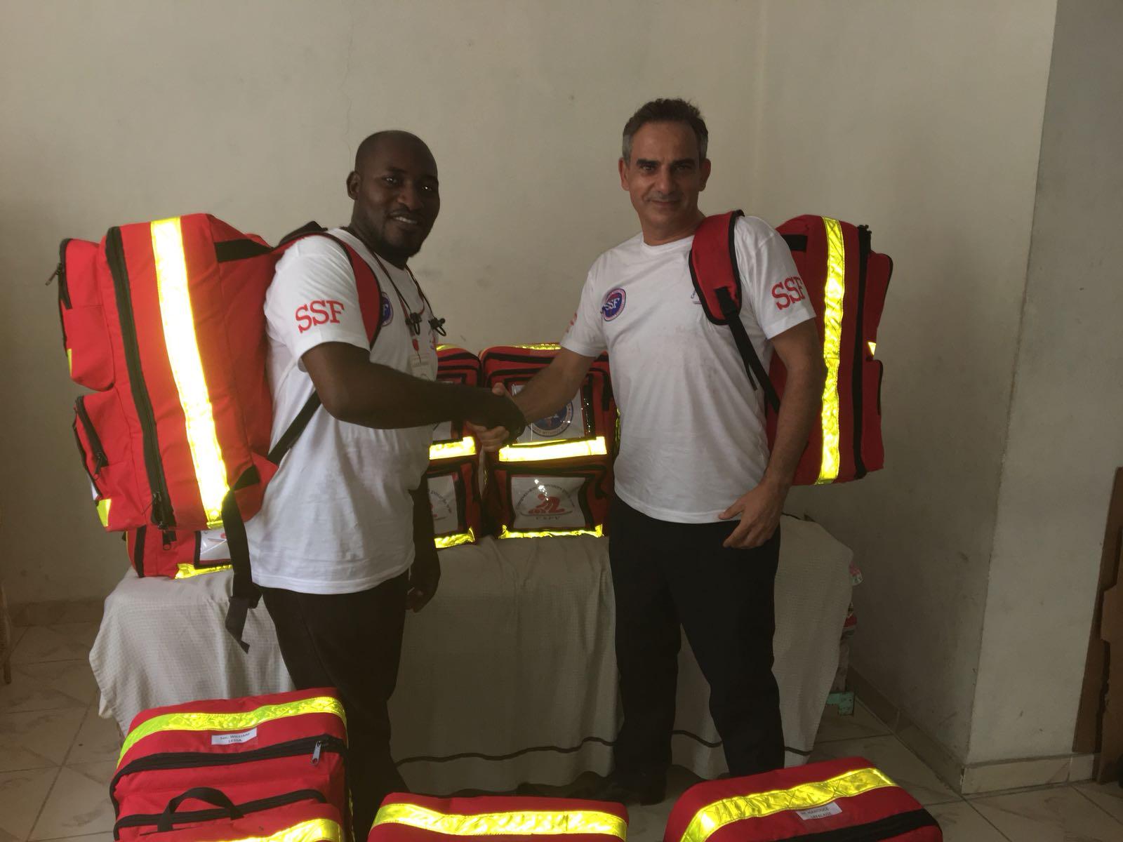 Saintil Rithzer Lee, le président de CSPV et Fernand Cohen-Tannoud Port au Prince, le 08 Juillet 2018