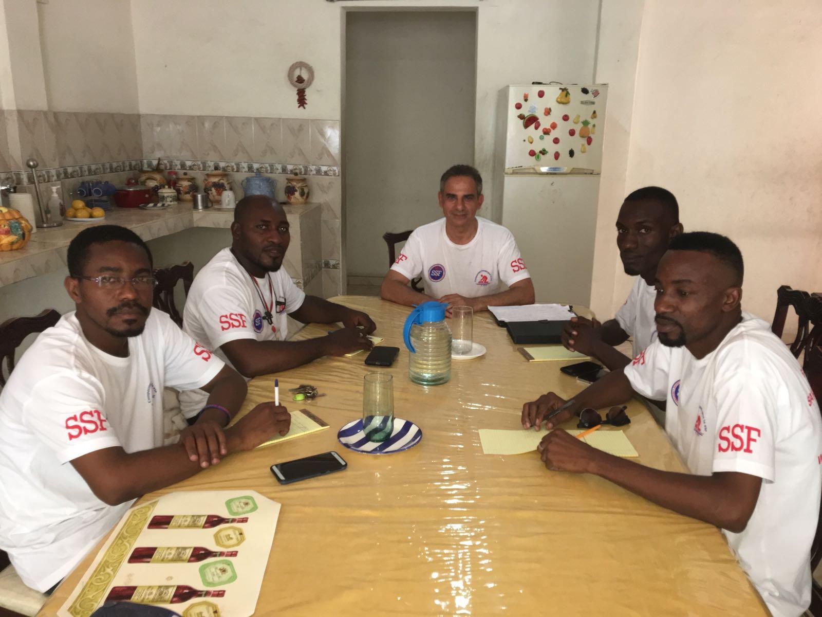 Préparation de la cérémonie, Port au Prince08Juillet 2018