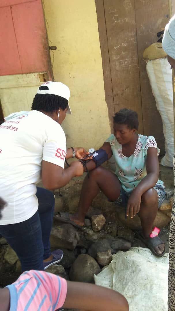 Soins aux blessés du tremblement de terre, octobre 2018, Haïti