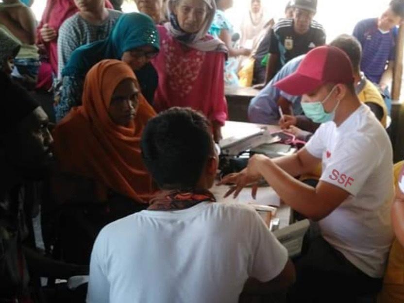 Soins aux blessés, octobre 2018, Palu, Indonésie