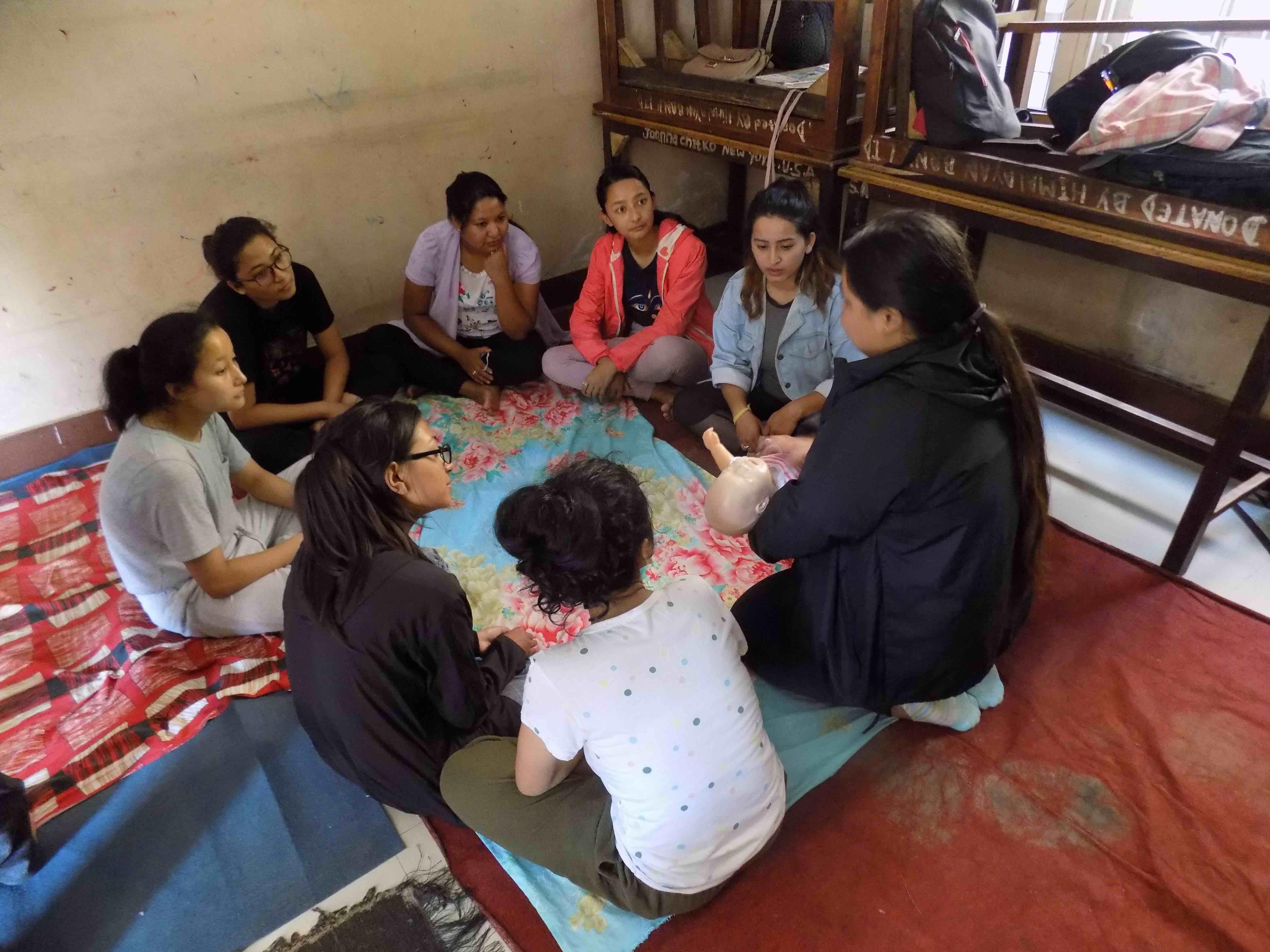 Formation au secourisme, Népal, été 2018